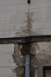 schimmelbildung an nasser Wand